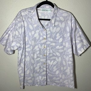 PATAGONIA Womens Large Blue White Button Down